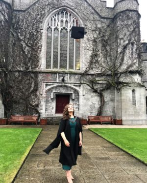 Ciara Geraghty on her Graduation day in the Quad in NUIG.